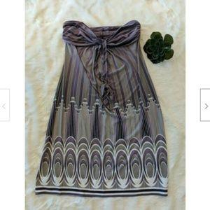 BCBGMaxAzria Strapless Jersey Knit Dress M NWT